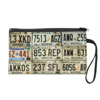 License Plates Wristlet Purses