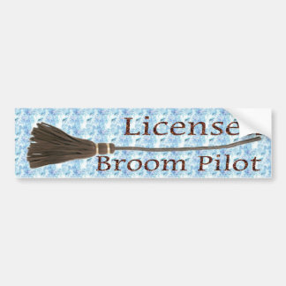 Licensed Broom Pilot Bumper Sticker