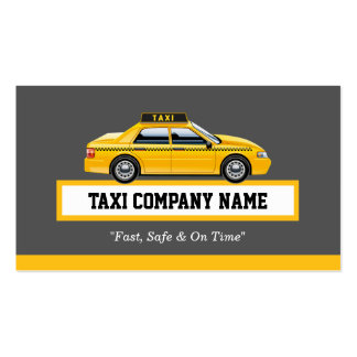 Licensed Cap Driver Chauffeur - Yellow Taxi Pack Of Standard Business Cards