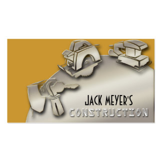 Licensed Contractor Construction Business Tools Pack Of Standard Business Cards