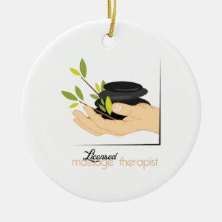 Licensed Massage Therapist Christmas Ornament