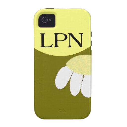 Licensed Practical Nurse Daisy iPhone 4/4S Cover