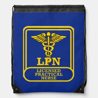 Licensed Practical Nurse Drawstring Backpack