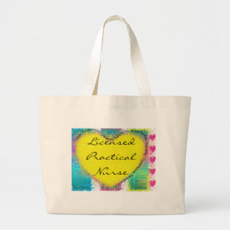licensed practical nurse large tote bag