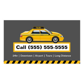 Licensed Taxi Driver Chauffeur - Yellow Cap Pack Of Standard Business Cards