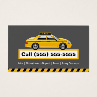 Licensed Taxi Driver Chauffeur - Yellow Cap Business Card