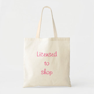 Licensed  to  shop tote bags