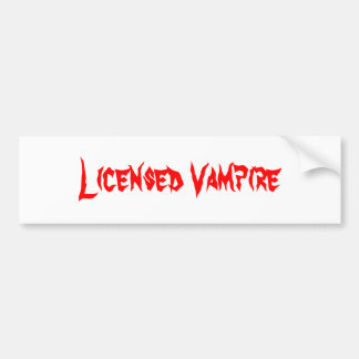 Licensed Vampire Bumper Sticker