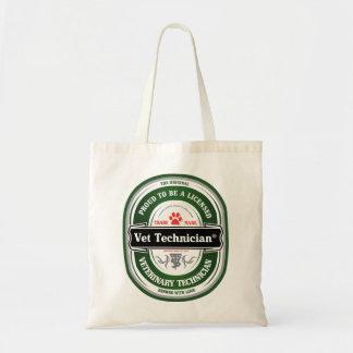 licensed vet tech tote tote bags