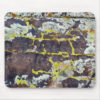 Lichens On Rock No. 3 Mouse Mat