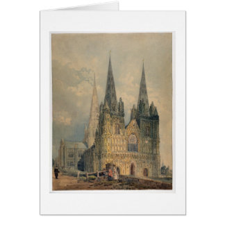Lichfield Cathedral, Staffordshire, 1794 (w/c over Card