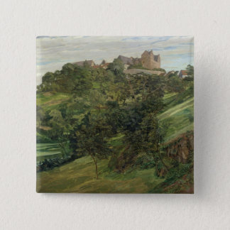 Lichtenberg Castle in Odenwald, 1900 15 Cm Square Badge