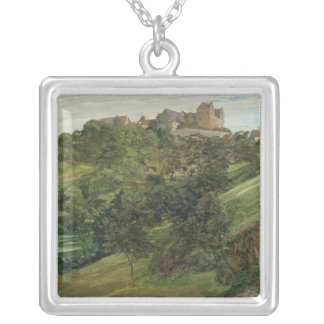 Lichtenberg Castle in Odenwald, 1900 Silver Plated Necklace