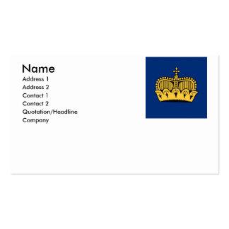 Lichtenstein Pack Of Standard Business Cards