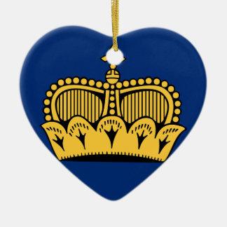 Lichtenstein Ceramic Heart Decoration
