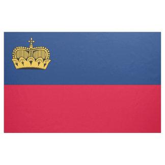 Lichtenstein Flag Fabric