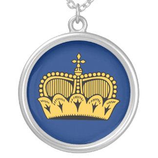 Lichtenstein Round Pendant Necklace