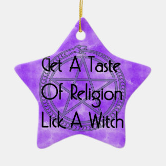 Lick A Witch Ceramic Star Decoration