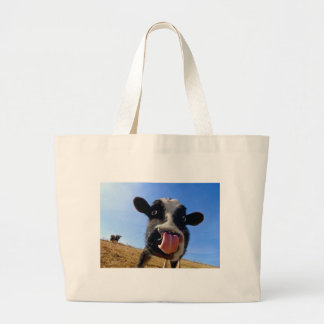 Lickin' cow large tote bag
