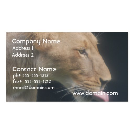 Licking Lioness Business Card Template