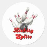 Lickity Split Bowling Round Sticker