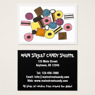 Licorice Allsorts Candies Candy Shop Sweets Foodie Business Card