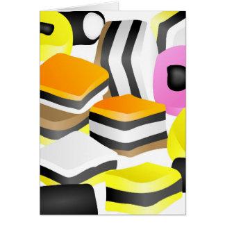 Licorice Allsorts Card