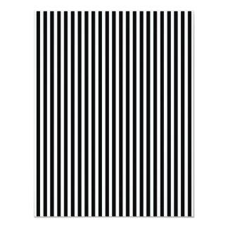 Licorice Black and White Cabana Stripes 11 Cm X 14 Cm Invitation Card