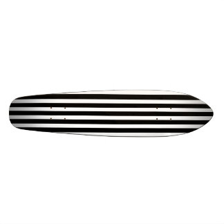Licorice Black and White Cabana Stripes Skate Board Deck