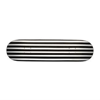 Licorice Black and White Cabana Stripes Skate Boards