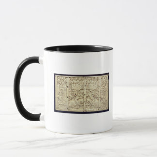 Lid of a casket depicting a tournament mug