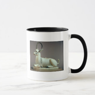 Lid of an unguent jar in the form of an ibex mug