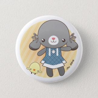 Lidia: The Bunny Amigurumi 6 Cm Round Badge