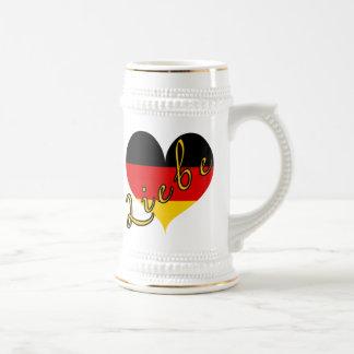 Liebe (Love) Germany Heart Mugs