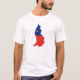 Liechtenstein country flag map symbol silhouette T-Shirt
