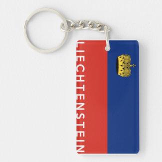 liechtenstein country flag text name key ring