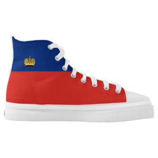 Liechtenstein country long flag nation symbol repu high tops