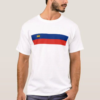 Liechtenstein country long flag nation symbol repu T-Shirt