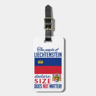 Liechtenstein custom luggage tag