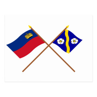 Liechtenstein Flag and Gamprin Armorial Banner Post Cards