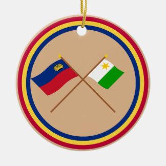 Liechtenstein Flag and Planken Armorial Banner Ornament