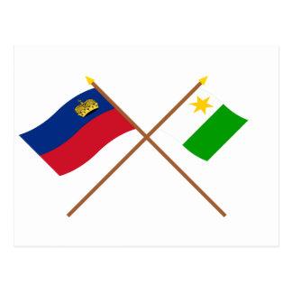 Liechtenstein Flag and Planken Armorial Banner Postcards