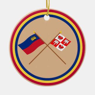 Liechtenstein Flag and Vaduz Armorial Banner Christmas Ornament