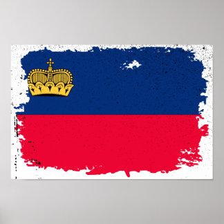 Liechtenstein Flag Poster