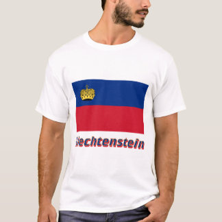 Liechtenstein Flag with Name T-Shirt