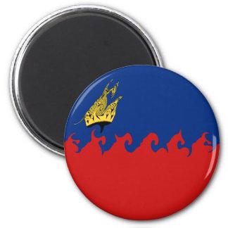 Liechtenstein Gnarly Flag 6 Cm Round Magnet