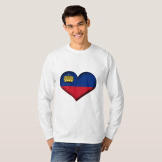 Liechtenstein Heart Flag T-Shirt