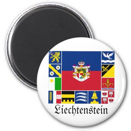 Liechtenstein & its Gemeinde Flags Refrigerator Magnets