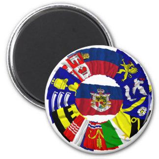 Liechtenstein & its Gemeinde Flags Refrigerator Magnet