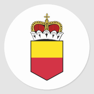 liechtenstein shield classic round sticker